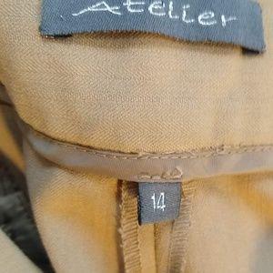 Atelier Sona Pants - Atelier stretchy tan trousers slacks pants